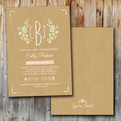 Bridal shower invite https://www.etsy.com/listing/167014861/wedding-shower-invitation-monogram