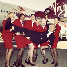 Richard Branson's a carry-me-on only kinda guy when he travels.