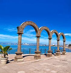 Puerto Vallarta, Mexico--the walkway along the beach in town has many wonderful sculptures