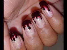 Bloody fingernails - great for Halloween :)