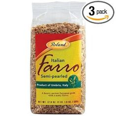 Roland Farro Semipearled From Italy, 17.6-Ounce Packages (Pack of 3)