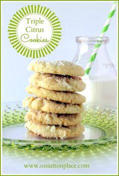Triple Citrus Cookies