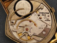 HAMILTON ELECTRIC WATCHES By Unwind In Time - Hamilton 14K Ventura With Original Black Dial Battery with delicate alternative wired model to power movement.