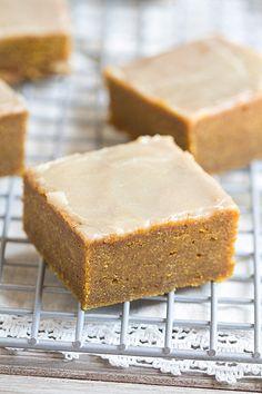 Pumpkin Spice Bars with Bourbon Butter Glaze | This Gal Cooks