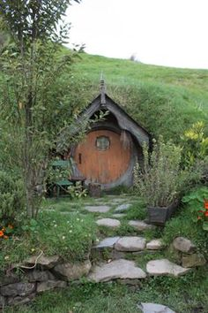 Underground home with fairy door