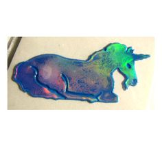 Rare Vintage Oilie Liquid Unicorn Sticker... I still have a page of these in one of my sticker books