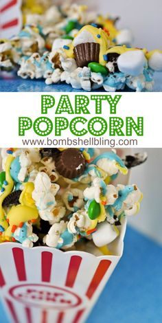 Party Popcorn is perfect for ANY gathering or party!  Too fun!!