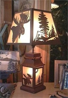Cabin Decor... Maybe paint silhouettes on the walls...
