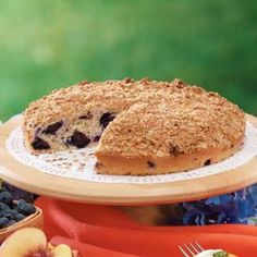 Blueberry Oatmeal Coffee Cake