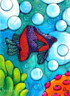 Fish art for the bathroom