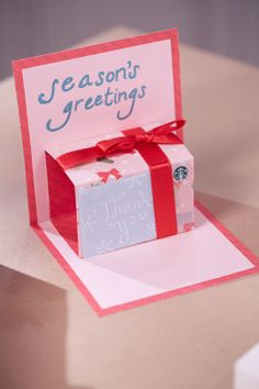 Countdown to Christmas: How to Make a Pop-Up Gift Card Holder