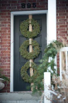 triple door wreath