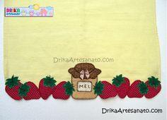Patchwork moldes pote de mel e morangos em patch aplique - Drika Artesanato - O seu Blog de Artesanato.
