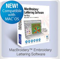 MacBroidery Embroidery Software Lettering software for Mac users!