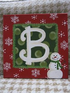 christma paint, painted christmas letters, christmas crafts, christmas signs, christmas art, christmas paintings