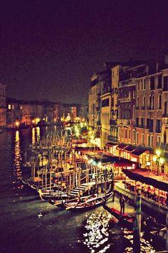 italian dream, canal grand, viva italia, amaz destin, venice grand canal, beauti, night, travel, place