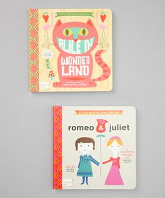 Take a look at this Alice in Wonderland & Romeo & Juliet Board Books by BabyLit on #zulily today!
