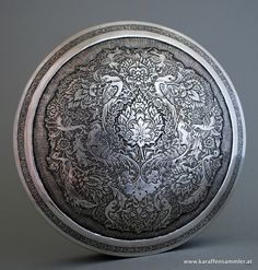 antique persian silver box - finely engraved