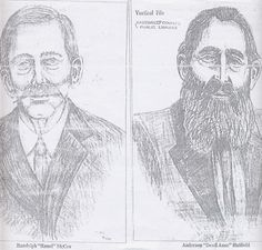 these were the main characters in the hatfield mccoy feud