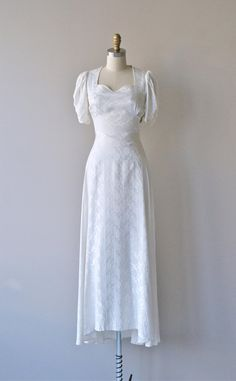 Caryatid wedding gown vintage 1930s wedding dress by DearGolden