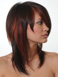Dark brown w/ red peek a boos