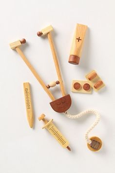 LOVE this wooden doctor set! ......nursing