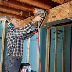 Frame Soffits With OSB - 14 Basement Finishing Tips: http://www.familyhandyman.com/basement/basement-finishing-tips