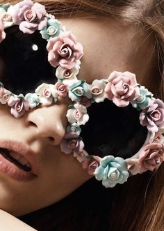 artificial flowers, shades, rose, fashion, accessori, flower power, sunglasses, floral, colored glass
