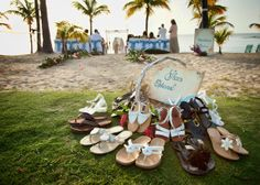 At a destination wedding in the Carribean-- shoes are DEFINITELY optional. {The Buccaneer}
