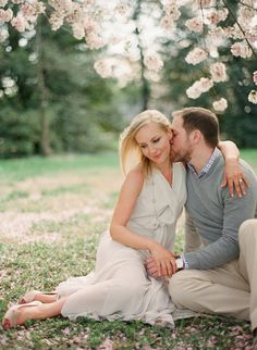 Spring Blossom Engagement Session - by Laura Murray Photography