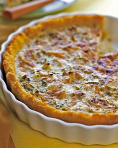 Artichoke Rosemary Tart with Polenta Crust ( vegetarian )