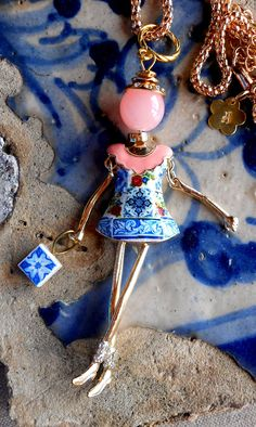 The Girl with the Azulejo Dress  Portugal  Antique by Atrio