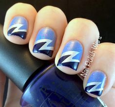 blue / navy #nails#