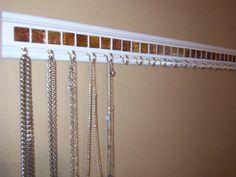 DIY necklace storage