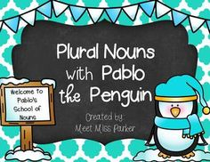 FREEBIE! Your students will learn and practice plural nouns in a fun and engaging way with Pablo the penguin! Check out this mini book now!