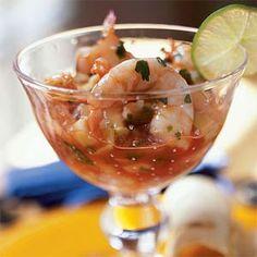 Ceviche de Camaron (Shrimp Ceviche Cocktail) | MyRecipes.com