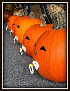 Fall Baby Shower Idea - pumpkins with binkies! How clever and how cute!