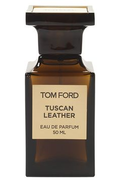 Tom Ford: Leather, black suede and amber footnotes.