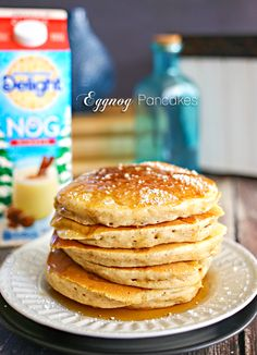 Eggnog Pancakes on k