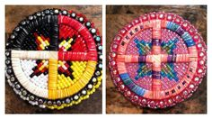 Beaded and quilled pins, M.M. Beading and Design on Facebook  https://www.facebook.com/MMbeadinganddesign