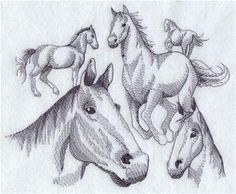 Machine Embroidery Designs at Embroidery Library! - Horses