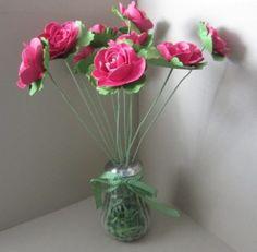 Stampin Up Spiral Flower die vase idea