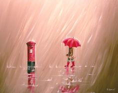 """✿Rainy Day✿ """"Letters in the Rain"""" by Pete Rumney"""