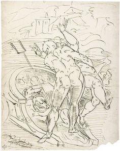 Plutón llevándose a Perséfone en su carroza, Anónimo (Seguidor de Cambiaso, Luca), Museo Nacional del Prado, Paloma Súarez