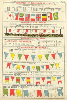 bunting in 1934 French catalog