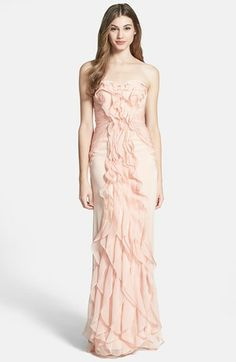Adrianna Papell Ruffled Chiffon Dress available at #Nordstrom LOVE THE RUFFLES