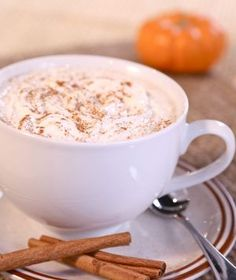 Crockin' Pumpkin Spice Latte - Warm up with this delicious Pumpkin Spice Latte, the official drink of fall. And yes, it's made in the slow cooker!