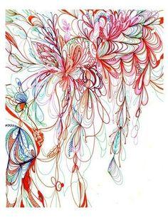 zentangle in color
