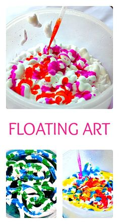 Simple floating art. Create and then play.