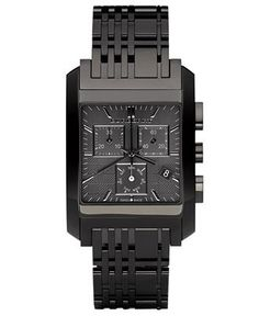 Matte black Burberry watch